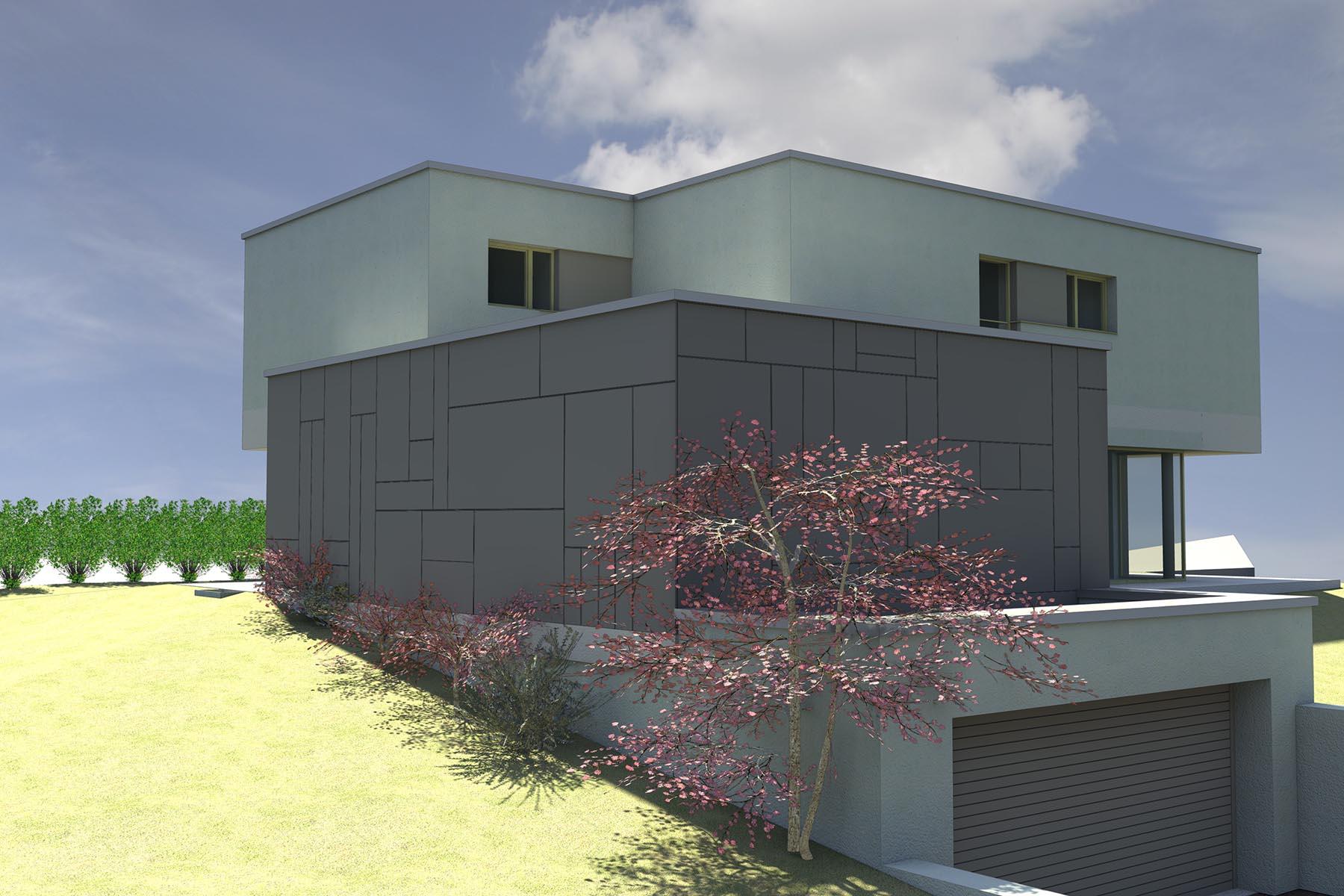 Construction d 39 une maison individuelle sur eschweiler theisen architectes - Descriptif construction maison individuelle ...