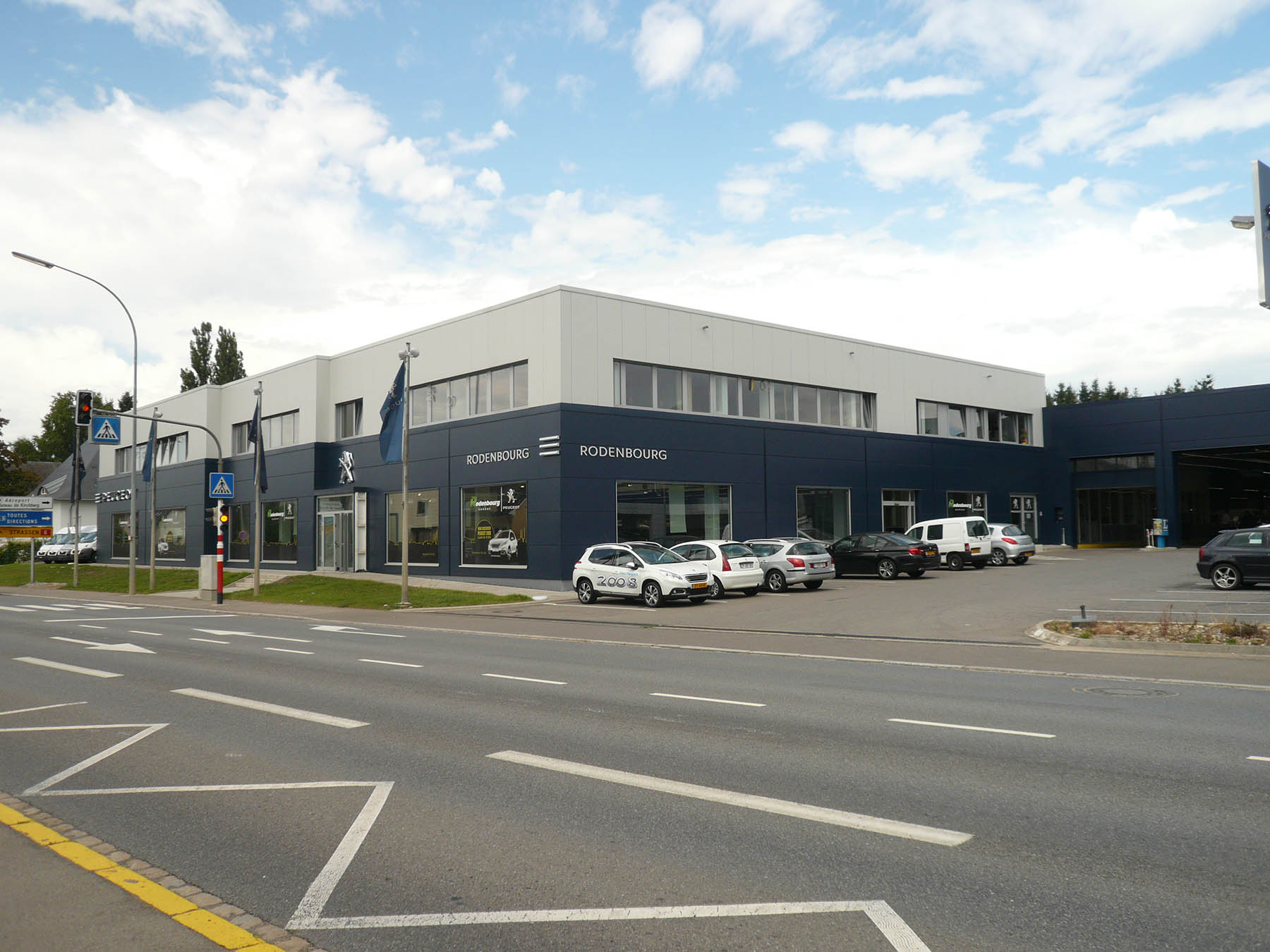 07-Extension et renovation du garage Rodenbourg-Peugeot a Strassen