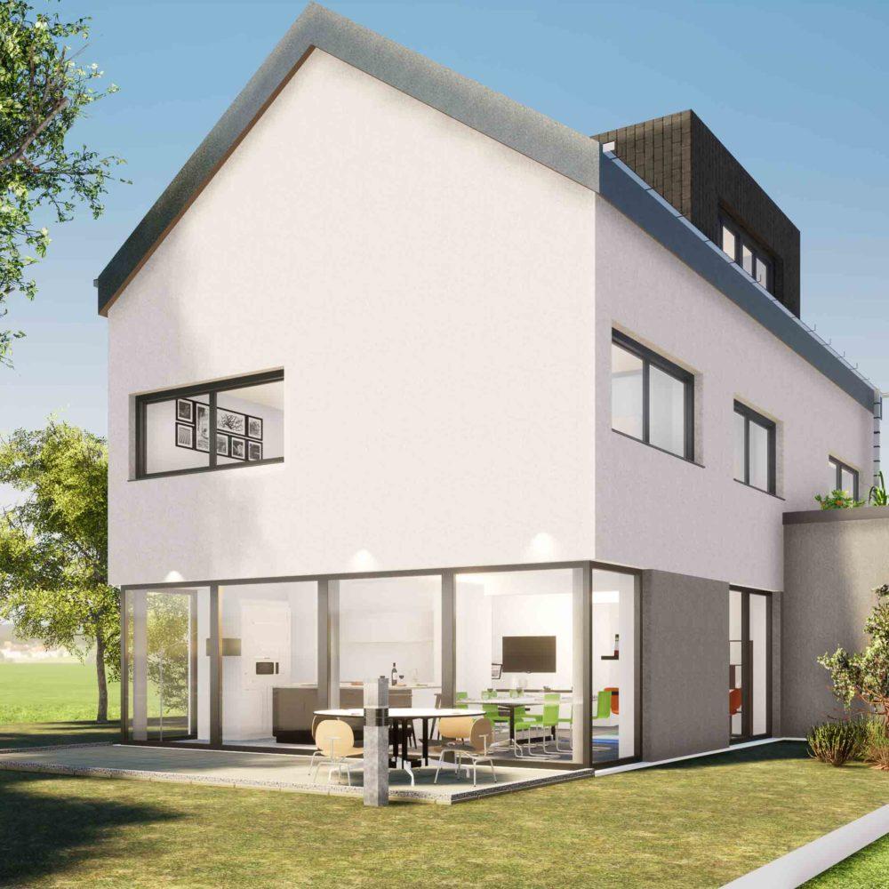 Réalisation d'une maison unifamiliale à Vichten - Theisen Architectes